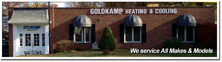 Goldkamp Heating & Cooling services all makes and models for your home's furnace repair by Florissant, MO.