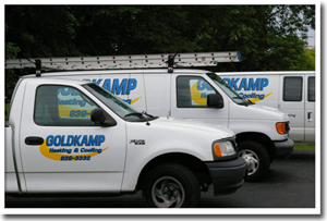 Goldkamp Heating & Cooling has service trucks ready for your home's furnace replacement